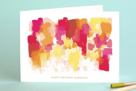 Highway Wildflowers Birthday Greeting Cards