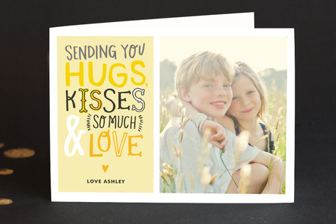 Doodle Words w/ Photo Birthday Greeting Cards