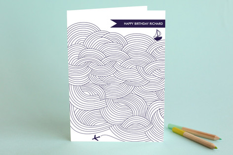 Field of Waves Birthday Greeting Cards