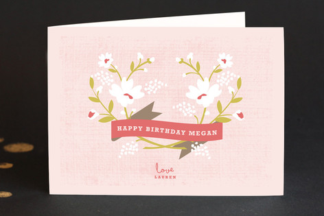 Merci Banner Birthday Greeting Cards