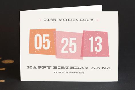 Vintage Blocks Birthday Greeting Cards