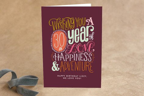 Doodle Script Birthday Greeting Cards