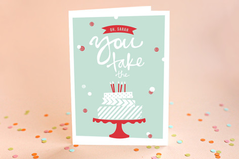 Washi Tape Birthday Cake Birthday Greeting Cards Minted