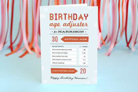 Age Adjuster Birthday Greeting Cards