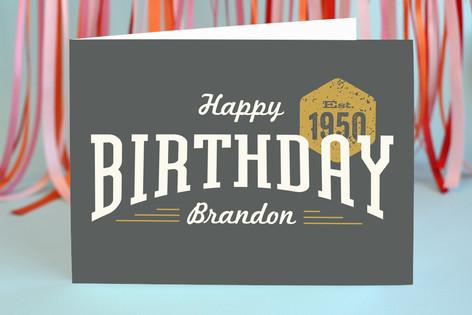 Dapper Gent Birthday Greeting Cards