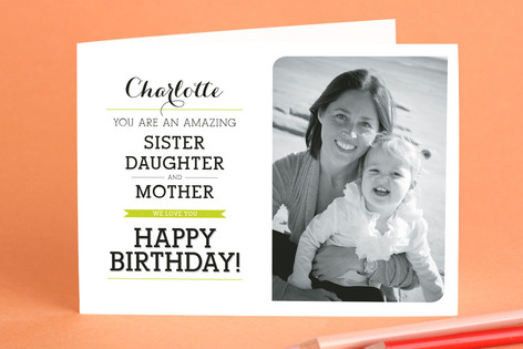 Sister, Daughter, Mother Birthday Greeting Cards