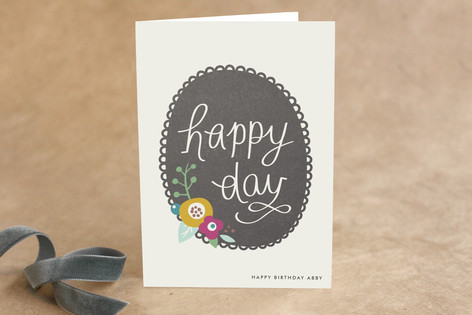 Scalloped Frame Birthday Greeting Cards