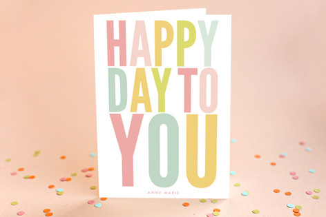 Bold Your Day Birthday Greeting Cards