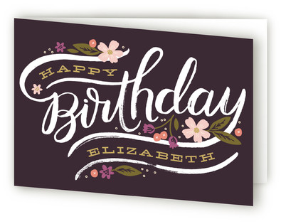 Birthday Florals Greeting Cards