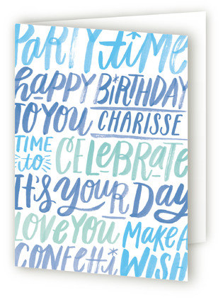 Lettering Birthday Greeting Cards