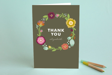 Garden party adult thank you greeting cards by ale minted garden party adult thank you greeting cards m4hsunfo