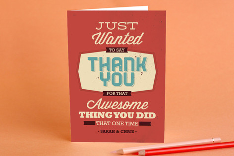 Thanks for the thing adult thank you greeting card minted thanks for the thing adult thank you greeting cards m4hsunfo