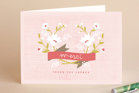 Merci banner adult thank you greeting cards by kri minted merci banner adult thank you greeting cards m4hsunfo