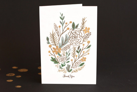 Muted Bouquet Adult Thank You Greeting Cards