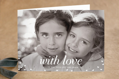 With Love Adult Thank You Greeting Cards