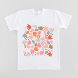 This is a white girls t shirt by Jocelyn Proust called Can't Wait for Spring.