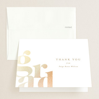 Bold Grad Foil-Pressed Graduation Announcement Thank You Cards
