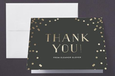 Confetti Dots Foil-Pressed Graduation Announcement Thank You Cards