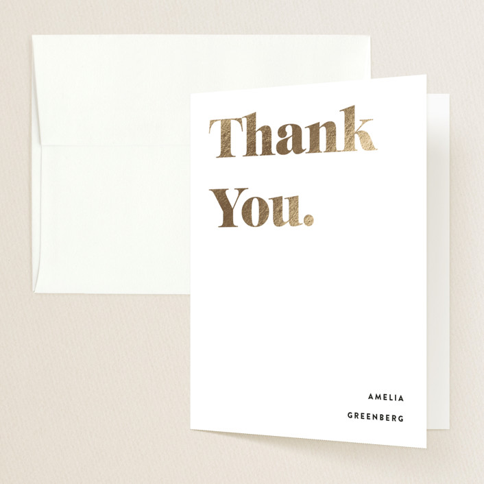 """""""It's Going Down"""" - Funny, Modern Foil-pressed Graduation Announcement Thank You Cards in Ivory by Up Up Creative."""