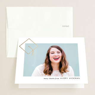 Commence Foil-Pressed Graduation Announcement Thank You Cards