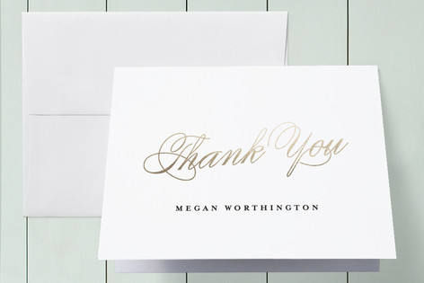 Poetic Foil-Pressed Graduation Announcement Thank You Cards