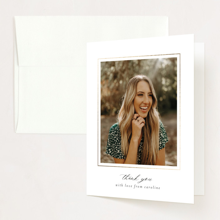 """""""Coincide"""" - Modern Foil-pressed Graduation Announcement Thank You Cards in Cloud by Beth Schneider."""