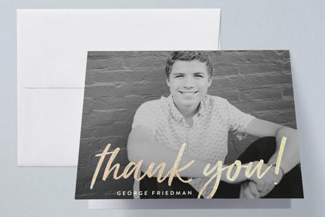 Signed Twenty Eighteen Foil-Pressed Graduation Announcement Thank You Cards