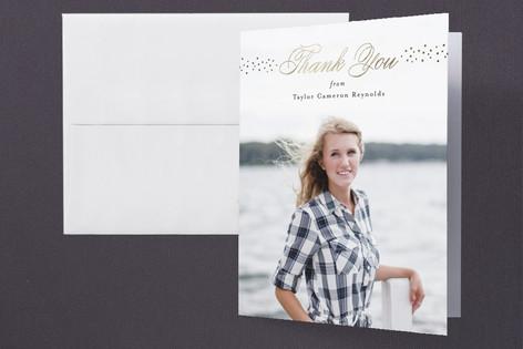 Momentous Foil-Pressed Graduation Announcement Thank You Cards