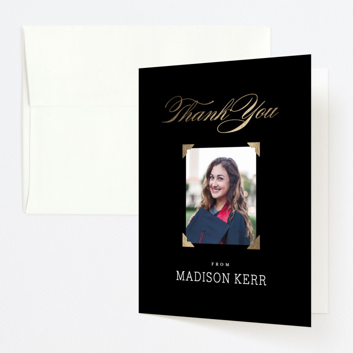"""""""Law Degree"""" - Foil-pressed Graduation Announcement Thank You Cards in Ink by Jill Means."""