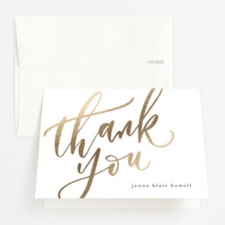 Class Stamp Foil-Pressed Graduation Announcement Thank You Cards