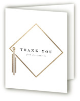 This is a white graduation thank you card by Robert and Stella called Encapsulated with foil-pressed printing on strathmore in standard.