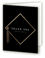 This is a black graduation thank you card by Robert and Stella called Encapsulated with foil-pressed printing on strathmore in standard.