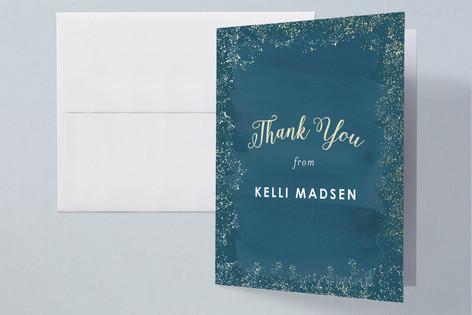 Golden Graduation Foil-Pressed Graduation Announcement Thank You Cards