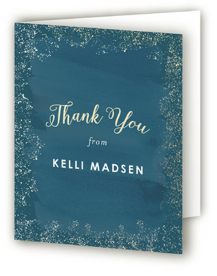 Golden Graduation Foil-Pressed Graduation Announcement Thank You Cards