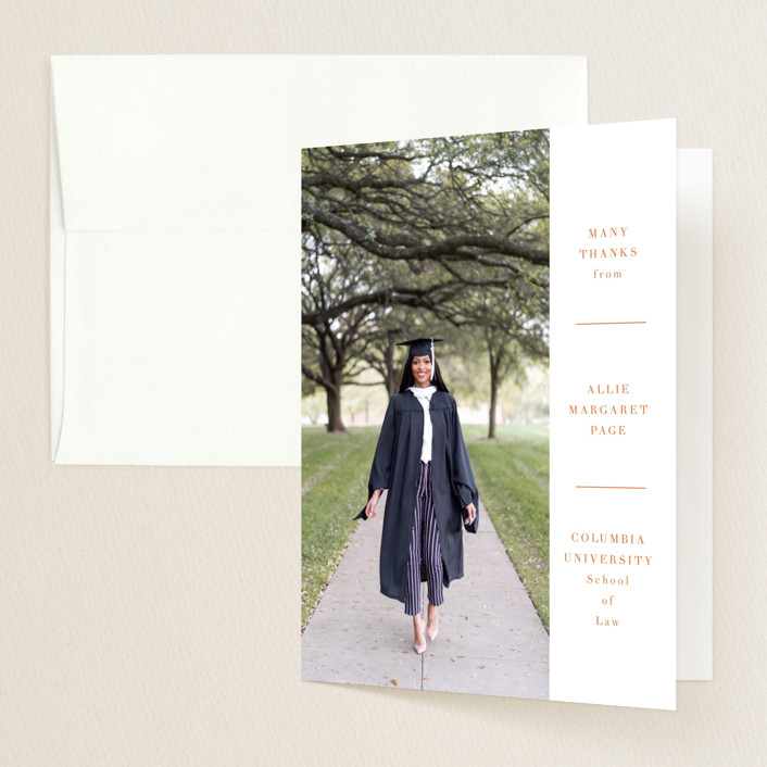 """""""Hudson"""" - Graduation Thank You Cards in Ink by Toast & Laurel."""