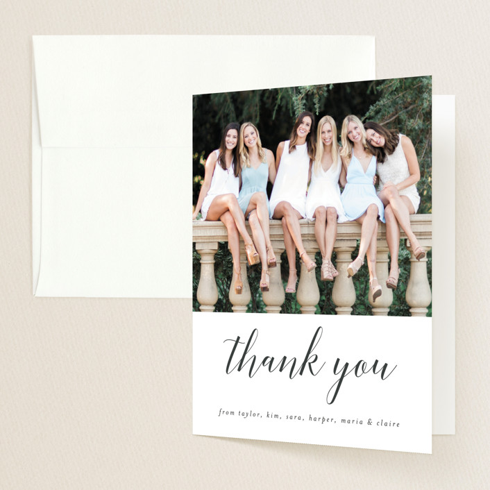"""""""Our Graduates"""" - Graduation Thank You Cards in Cloud by Sara Hicks Malone."""