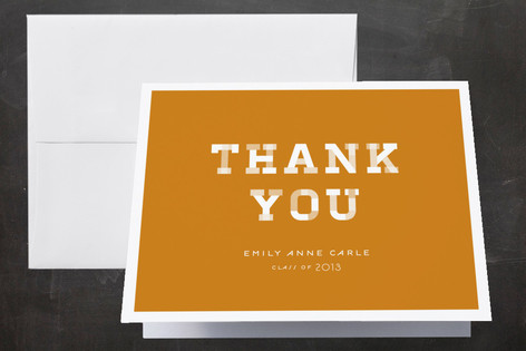 Patterned Graduate Graduation Thank You Cards