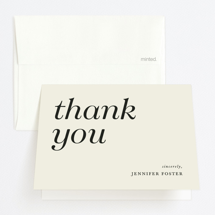 """""""Sophisticated"""" - Graduation Thank You Cards in Charcoal by Ellen Schlegelmilch."""