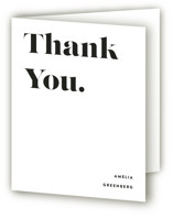 This is a white graduation thank you card by Up Up Creative called It's Going Down with standard printing on strathmore in standard.