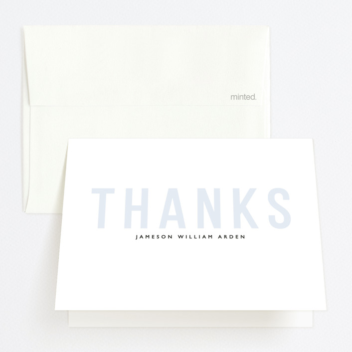 """Layered Grad Party"" - Graduation Thank You Cards in Sky by Bethany Anderson."