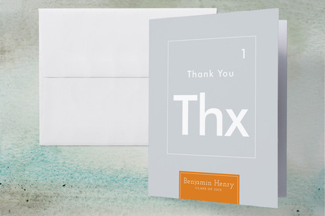 Periodic Table Graduation Thank You Cards