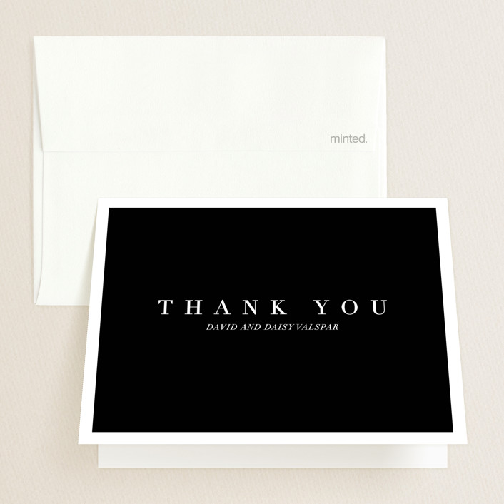 """Then & Now"" - Graduation Thank You Cards in Noir by Bethany Anderson."