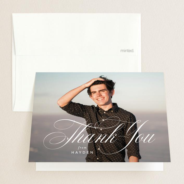 """Flourishing"" - Graduation Thank You Cards in Gilded Gold by Jennifer Postorino."