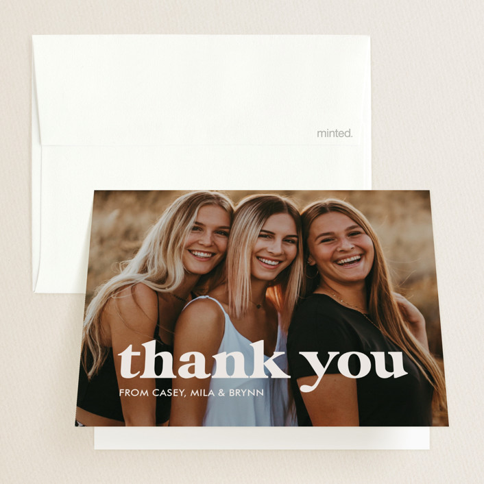 """Virtually the best"" - Funny, Preppy Graduation Thank You Cards in Cinnamon by Lea Delaveris."