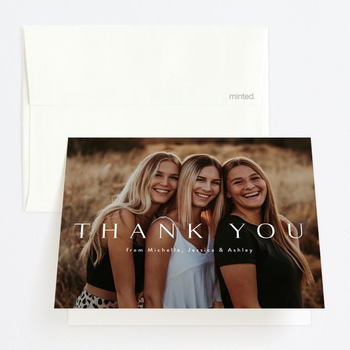 """Celebration"" - Graduation Thank You Cards in Cotton by Kasia Labocki."