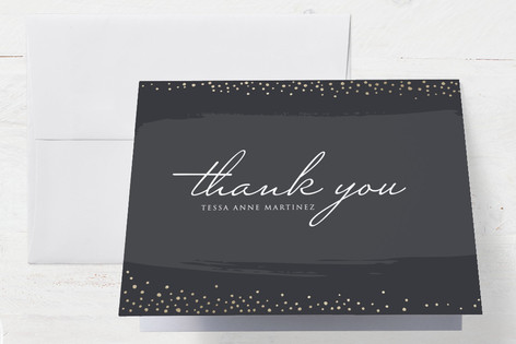 Dots Of Gold Graduation Thank You Cards