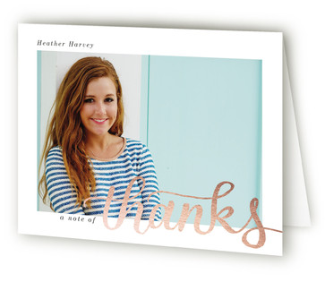 Simply Graduating Graduation Announcement Thank You Cards