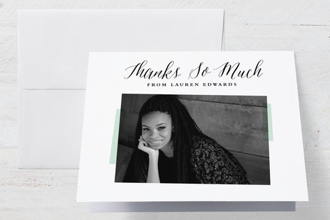 Photo Overlay Graduation Thank You Cards