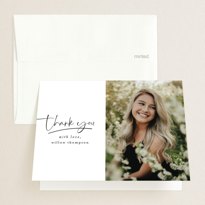 """FOUR"" - Graduation Thank You Cards in Cotton by Ashlee Townsend."
