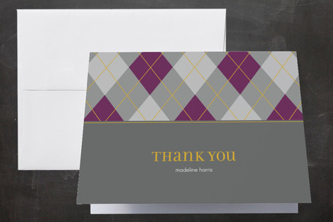 prep school Graduation Thank You Cards